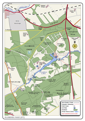Clumber Park Map Clumber Park.